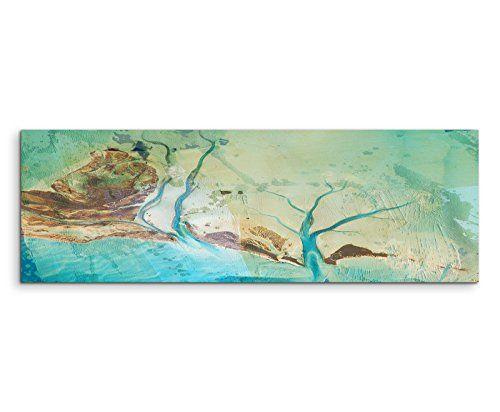 150 x 50 cm impresi n fotogr fica panor mica cuadro - Pintura azul turquesa ...