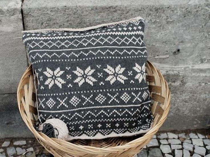 DIY tutorial: Kussen met Noors patroon breien via DaWanda.com
