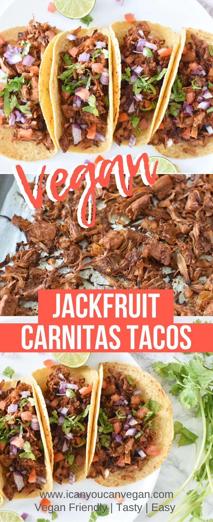 Easy jackfruit carnitas tacos i can you can vegan