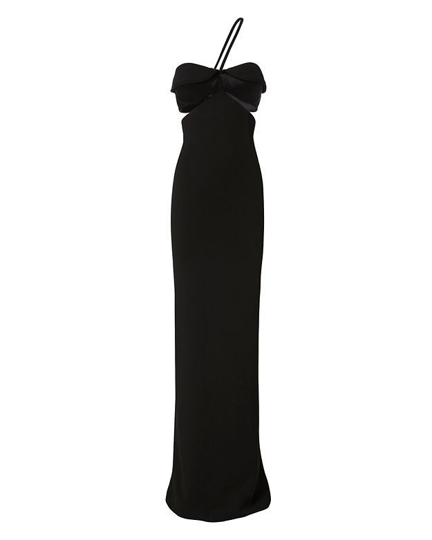 BRANDON MAXWELL Black Bustier Gown. #brandonmaxwell #cloth #gown