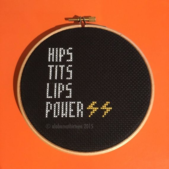 "5"" 'Hips Tits Lips Power' Framed & Finished by alabamathirteen - one of my new designs!"