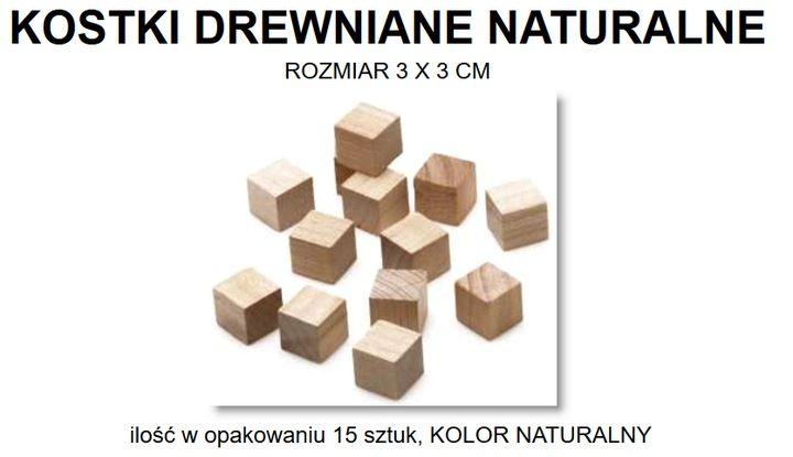 Kostki Drewniane 3 X 3 Cm Jaropap Crafts Texture Toys