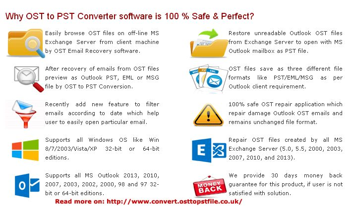 OST to PST Converter download to easily repair and restore emails from damage and unreadable Outlook OST files.