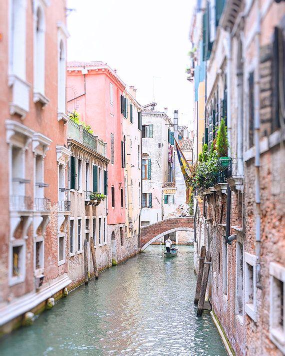 Venice Gondola Photo, Venice Canal Photo, Grand Canal Venice, Venice Photograph, Venice Print, Canal Print, Italy Photograph, Italy Print