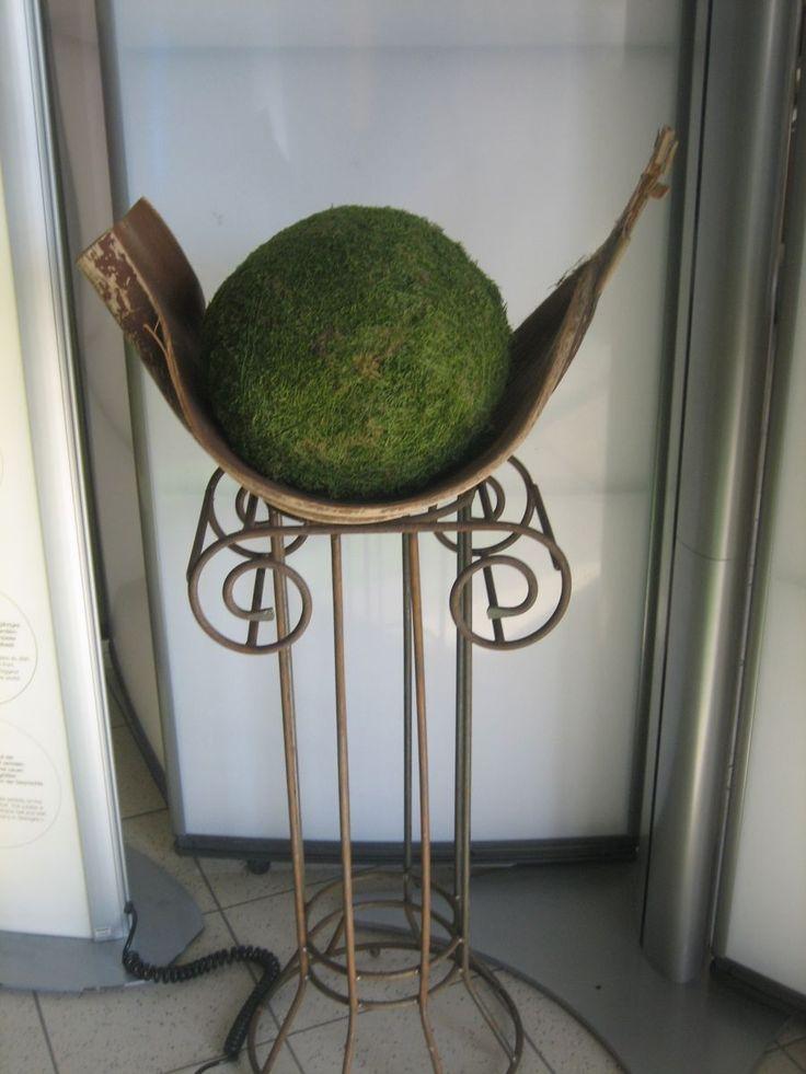Gebundene Mooskugel, natur, grün 30cm - huebsch-deko
