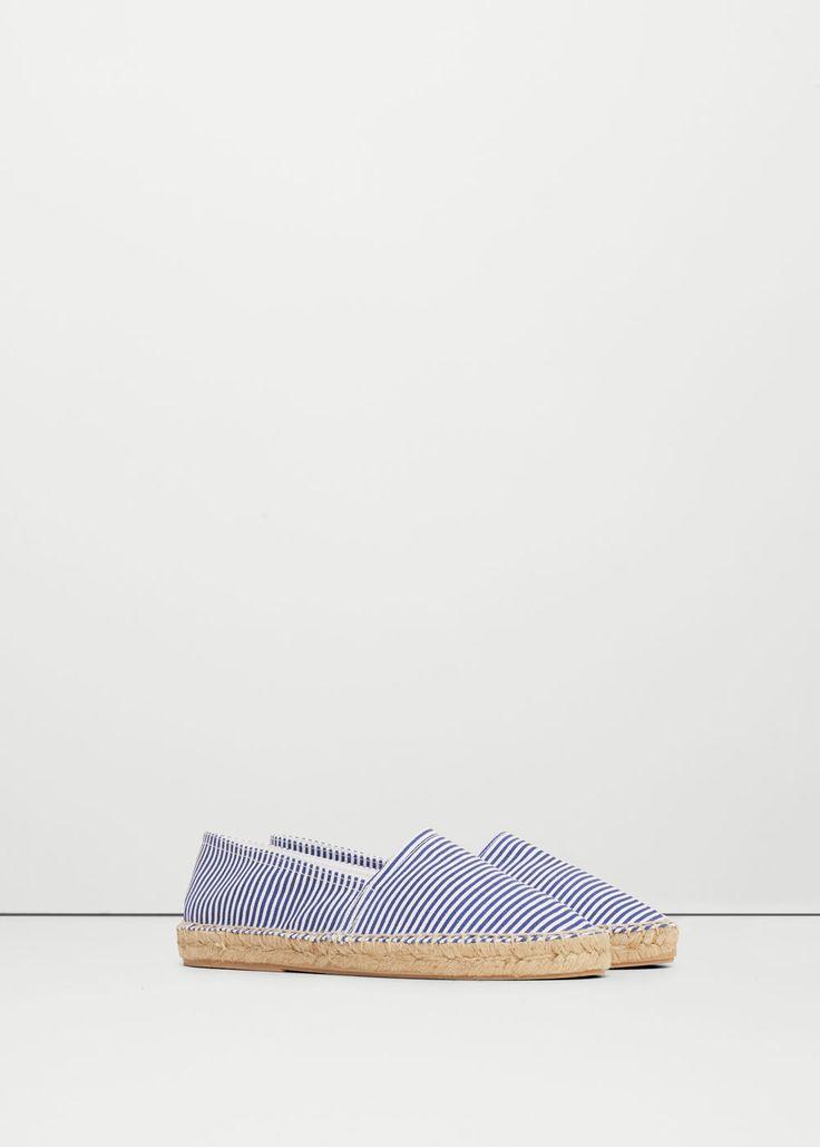 Espadrilles coton à rayures - Chaussures pour Femme | MANGO France