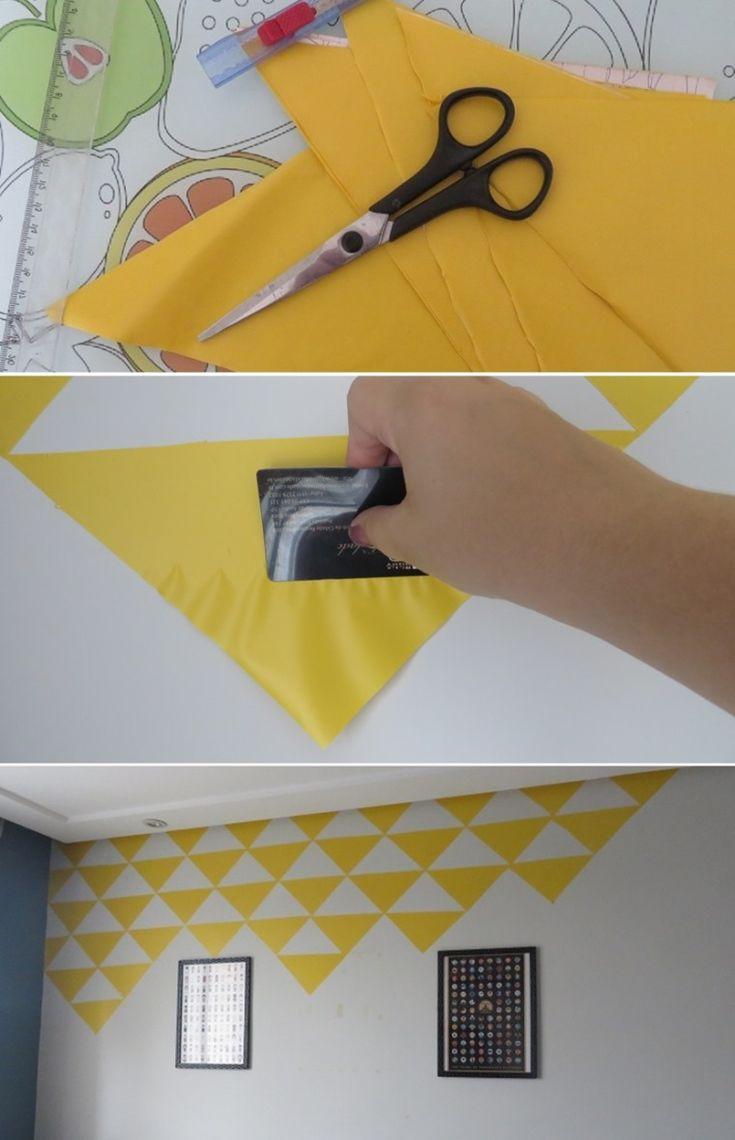 Como fiz um papel de parede estiloso por menos de R$50