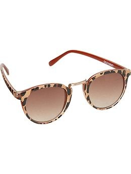 Women's Animal-Print Sunglasses | Old Navy - saw someone wearing these at the Foster the People | Kimbra | Kooks concert and they looked awesome!