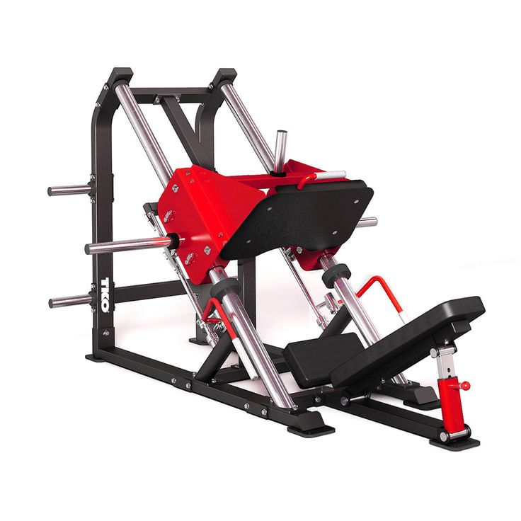 Linear leg press with adjustable back pad large foot
