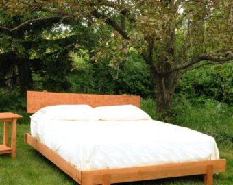 Cherry Asian Platform Bed King