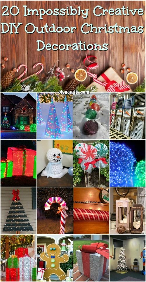 20 Impossibly Creative DIY Outdoor Christmas Decoration | Christmas DIY |  Pinterest | Diy Outdoor Christmas Decorations, Outdoor Christmas And Lawn