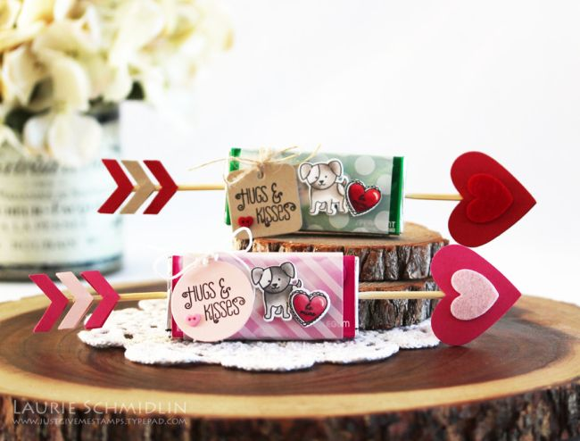 Hugs & Kisses Valentine Arrows Treat Packaging by Laurie Schmidlin for Papertrey Ink (December 2016)