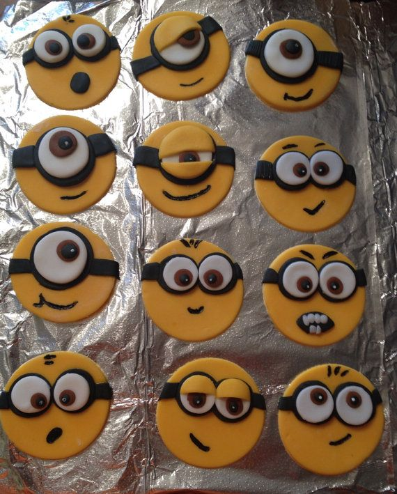 Minion cupcake toppers on Etsy, $20.00