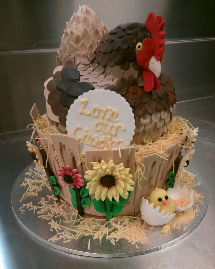 A chook cake. Why not?