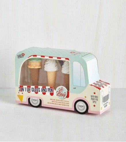 Coffret camion de glace gloss et stylo