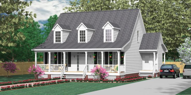 24 best images about 1 1 2 story house plans on pinterest 2nd floor house plans and cottages - Two story house plans with covered patios ...
