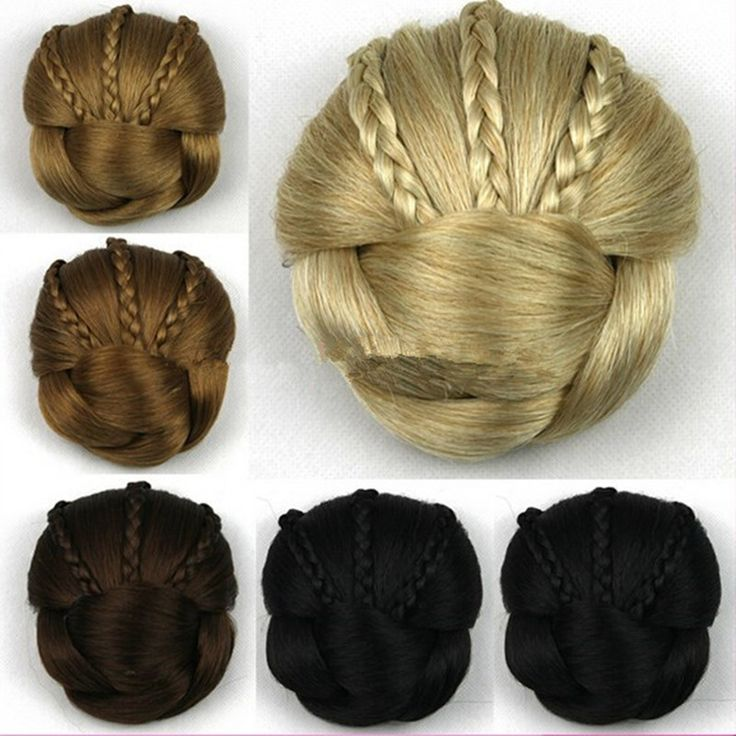 Wholesale FreeShipping Peruca Styling Tools Sytnhetic Fake Hair Bun Wig Hair Chignons Roller Hepburn Hairpiece Clip Buns Toupee