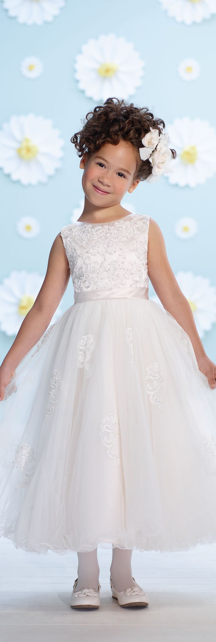 Joan Calabrese for Mon Cheri - Style No. 116381 #flowergirldresses