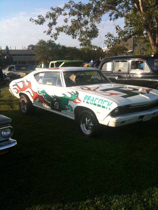 My 1968 Chevrolet Peacock.........Ex high school drag car from Moose Jaw, Saskatchewan.  Posted by paintnpanel.com