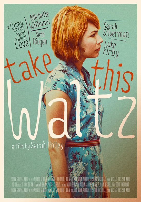 """Take This Waltz - Sarah Polley 2011 - DVD05470 -- """"Margot is happily married to Lou, a good-natured cookbook author, but when Margot meets Daniel, a handsome artist that lives across the street, their mutual attraction is undeniable, setting up an unusually true & unsentimental portrait of adult relationships."""""""