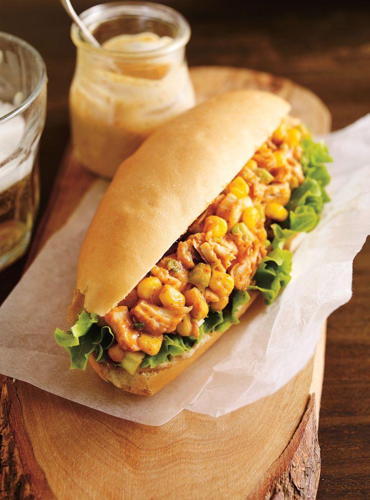 Recette de Ricardo de sandwich au poulet barbecue