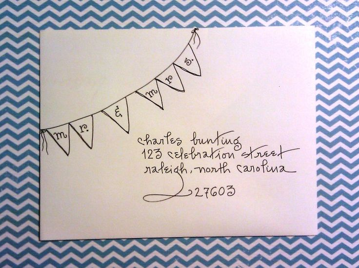 """Celebration"" addressing writing style.  www.calligraphybycarrie.com #bunting"