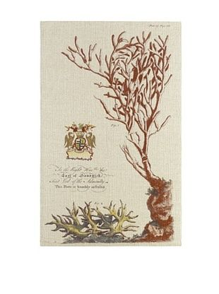 49% OFF French Linen Collection Vintage Coral Tapestry