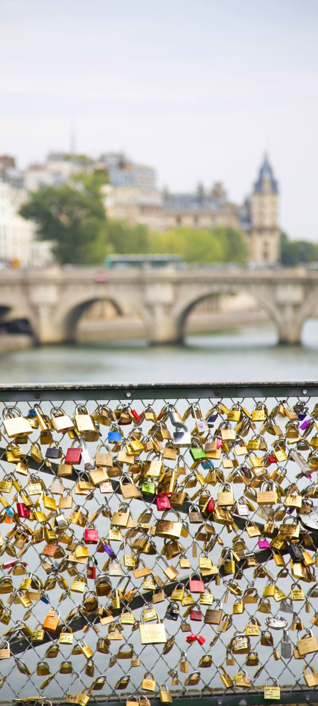 Pont des Arts, Paris. I put a lock on this bridge, but it was much fuller than this picture!
