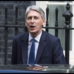 Chancellor of the Exchequer leaves 11 Downing Street for the last PMQ's before general election