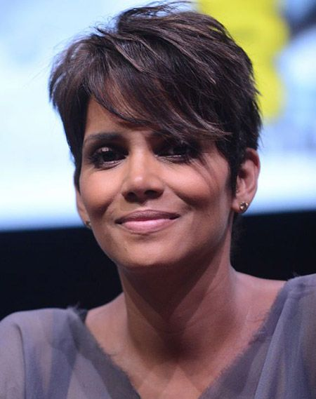 Halle Berry's Choppy Pixie Cut i love this but my face can't wear it.