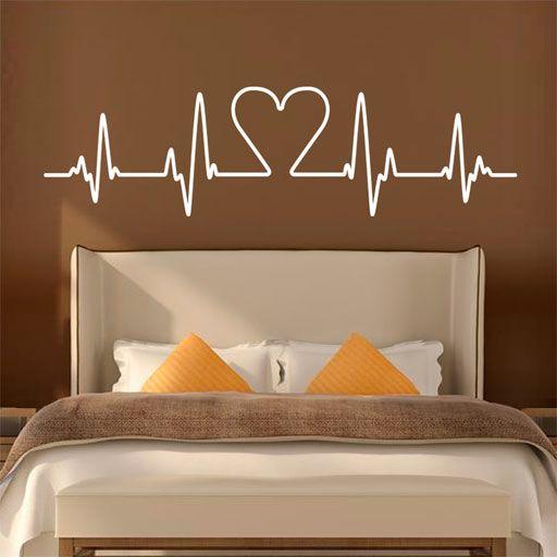 19 best images about vinilos baratos como cabeceros on for Calcomanias para dormitorios