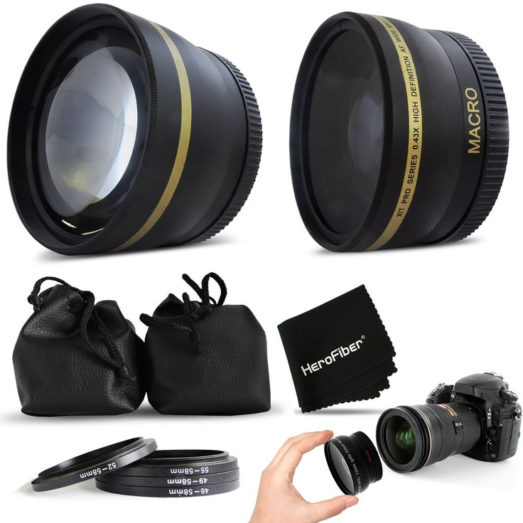 PRO 58mm Lens Attachment for all 58mm Lenses (3) Tele & Wide Angle Set)
