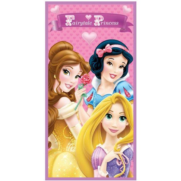 Badehåndklæde med Rapunzel, Snehvide og Belle