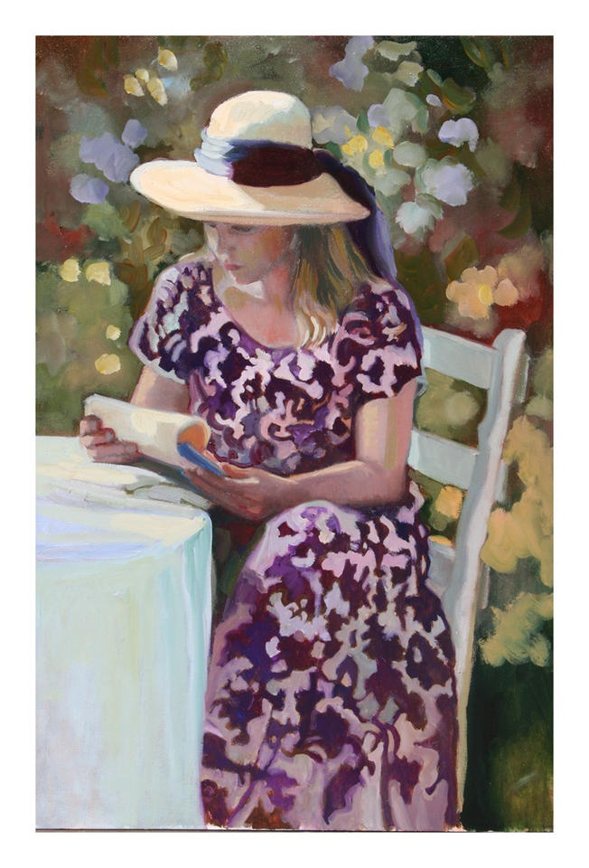 Purple Dress by Sally Rosenbaum