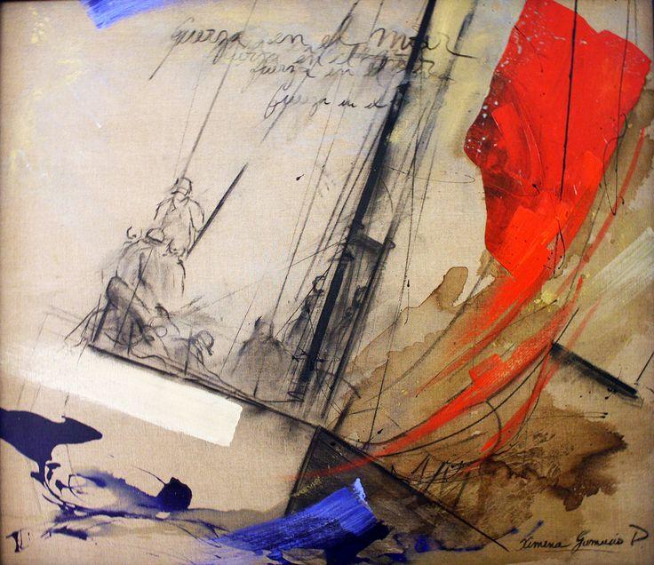 """""""Fuerza en el Mar"""" por Ximena Gumucio  #Hsm #Chile #VinadelMar #Chile #Arte #Pintura #Turismo #HSMChile"""