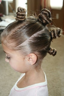 crazy hair day ideas for girls | Items Needed : Brush, comb, spray bottle, hairspray, and 8 rubber ...