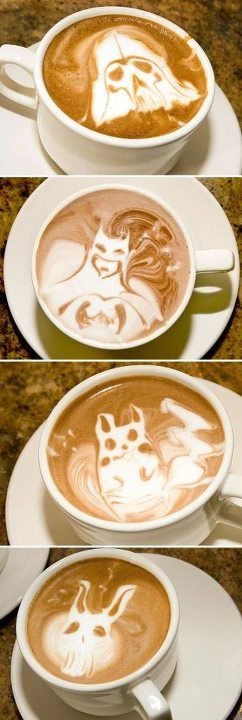 Your morning dose of coffee and geekiness? Amazing.