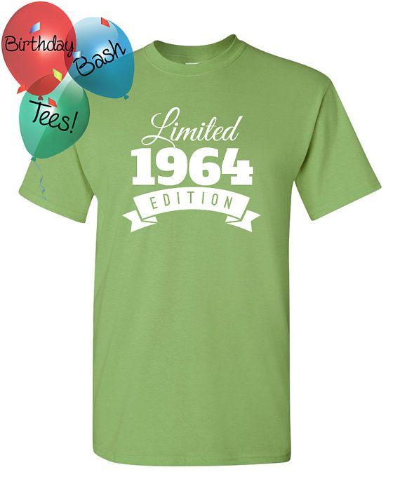 1964 Birthday Shirt 52 Limited Edition by BirthdayBashTees on Etsy