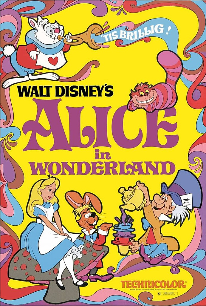 Walt Disney's Alice in Wonderland (1951) Original Theatrical Poster