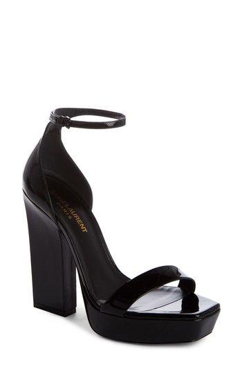 4eb636ff182 SAINT LAURENT DEBBIE PLATFORM ANKLE STRAP SANDAL.  saintlaurent  shoes