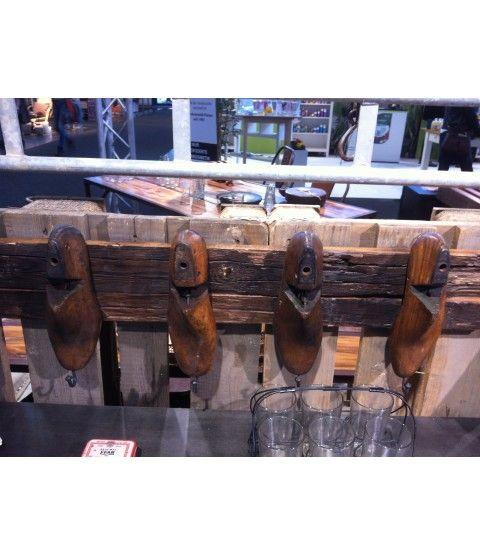 Wandgarderobe Schuhleisten Vintage Indien Hakenleiste Garderobe Retro Reclaim-Reinvent-Möbel  - 2-flowerpower