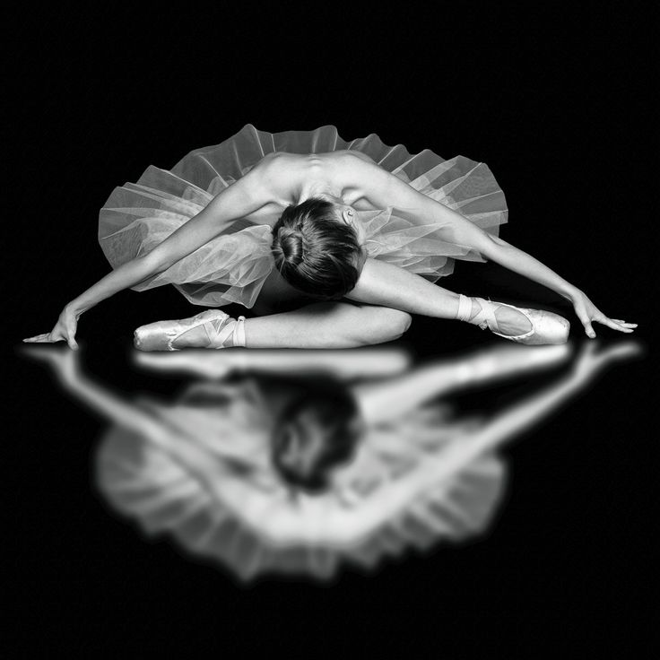 dancer reflected in black and white - beautiful composition!