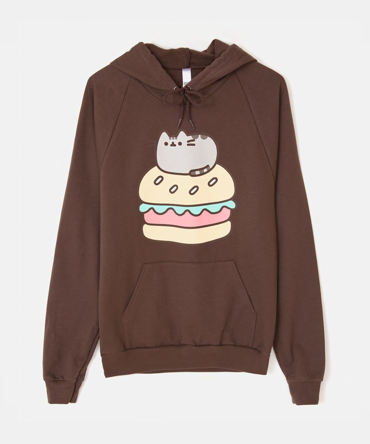 Burger Pusheen unisex hoodie