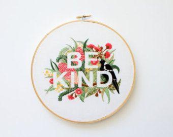 PDF Digital Download - Artist Series - Be Kind Embroidery Pattern - Thread Folk and Lauren Merrick