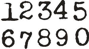 Znalezione obrazy dla zapytania numbering font