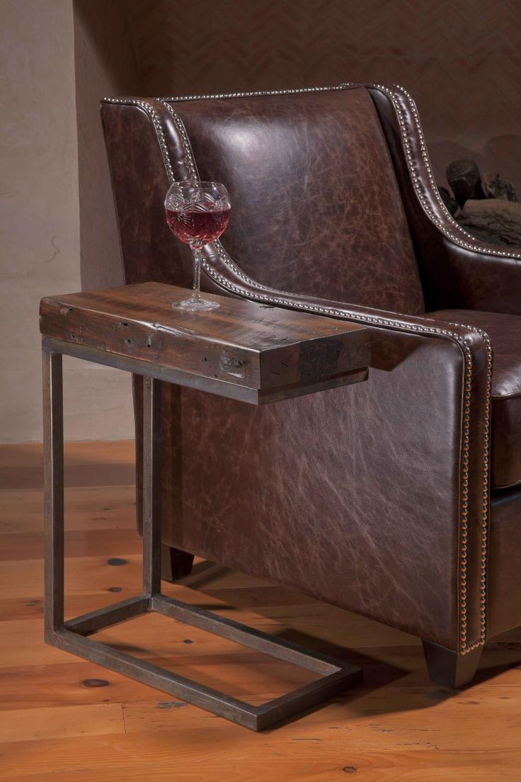 Custom Side Table Made From Reclaimed Wood By Peter Thomas Designs In  Scottsdale, Arizona.