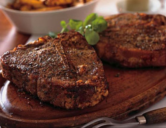 Wilson Creek Grilled Porterhouse Steak with Tomato Relish
