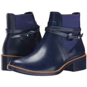 Bernardo Peony Rain (Navy) Women's Pull-on Boots