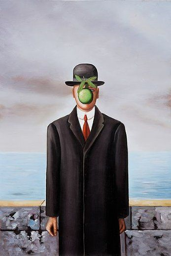 rene-magritte, son-of-man Fosterginger.Pinterest.ComMore Pins Like This One At FOSTERGINGER @ PINTEREST No Pin Limitsでこのようなピンがいっぱいになるピンの限界