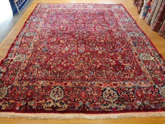 Persian Rug Sarouk Oriental 8u0027 8 X 11u0027 4 Magenta Area